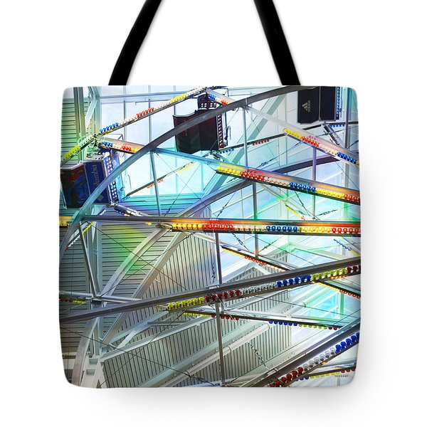 Flying Inside Ferris Wheel Tote Bag by Luther   Fine Art