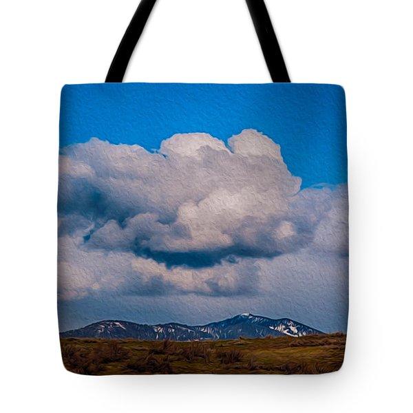 Flying Rain Spirit Tote Bag by Omaste Witkowski
