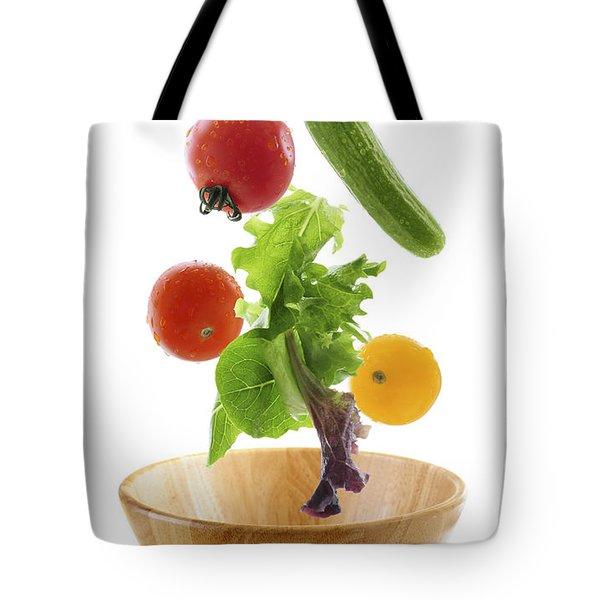 Flying Salad Tote Bag by Elena Elisseeva
