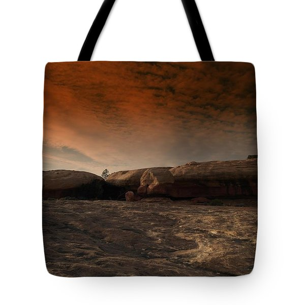 Flying Saucer Rock Tote Bag by Jeff Swan