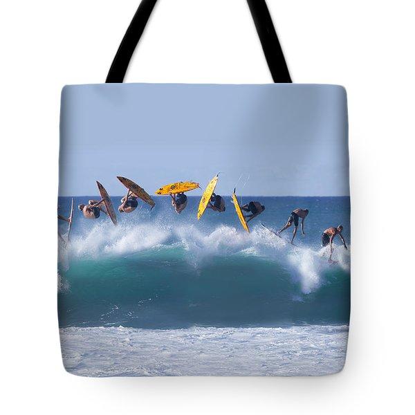 Flynnstone Flip Tote Bag by Sean Davey