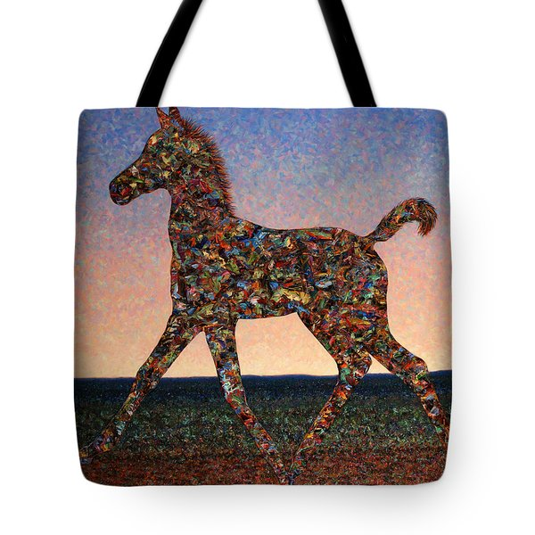 Foal Spirit Tote Bag by James W Johnson
