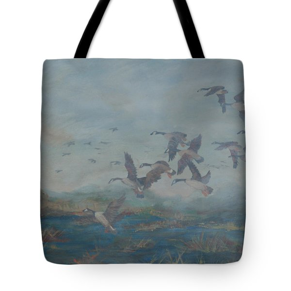 Foggy Morning Tote Bag by Gail Daley
