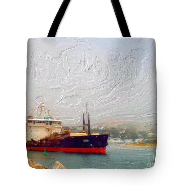 Foggy Morro Bay Tote Bag by Methune Hively