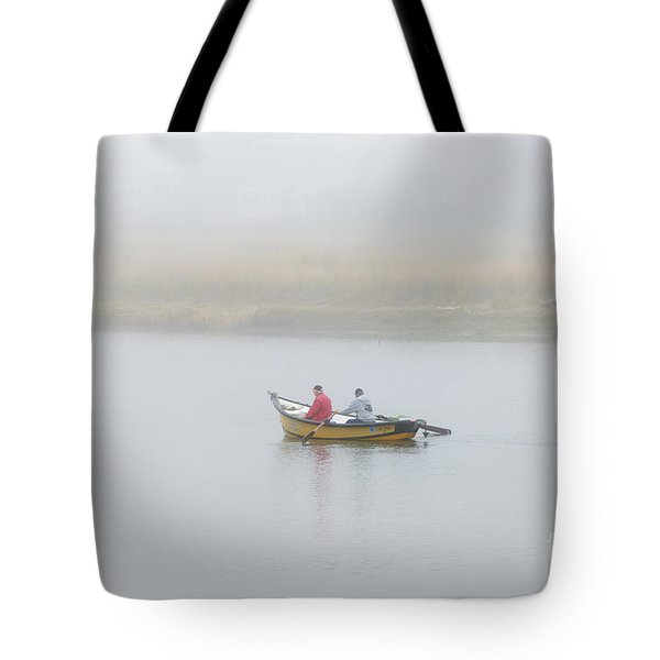 Foggy Nestucca Tote Bag by Mike  Dawson