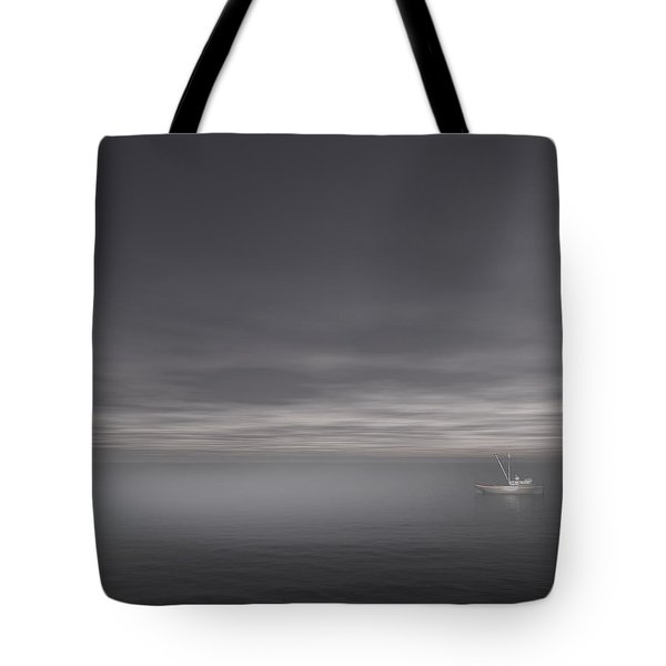 Foggy Stillness Tote Bag by Lourry Legarde