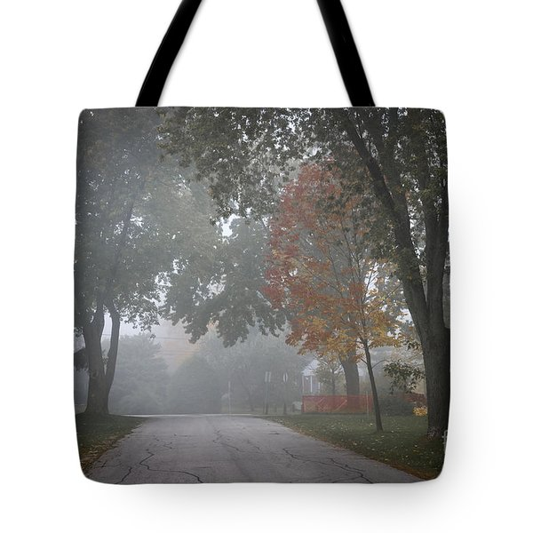 Foggy Street Tote Bag by Elena Elisseeva