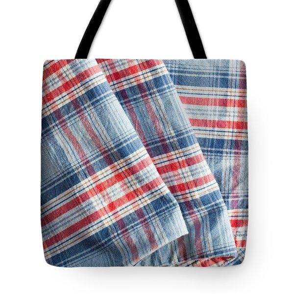 Folded fabric Tote Bag by Tom Gowanlock