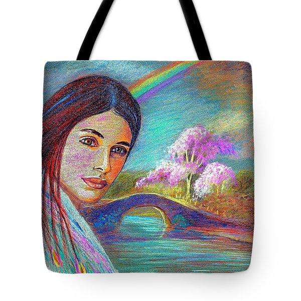 Following the Rainbow Tote Bag by Jane Small