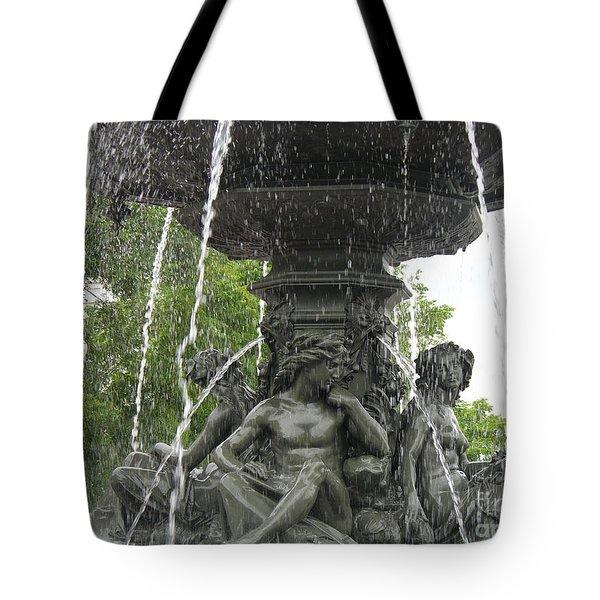 Fontaine De Tourny Tote Bag by Lingfai Leung