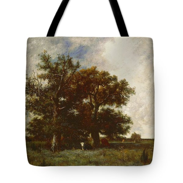 Fontainebleau Oak Tote Bag by Jules Dupre