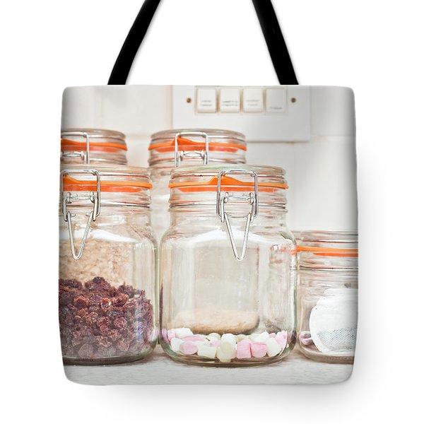 Food Jars Tote Bag by Tom Gowanlock