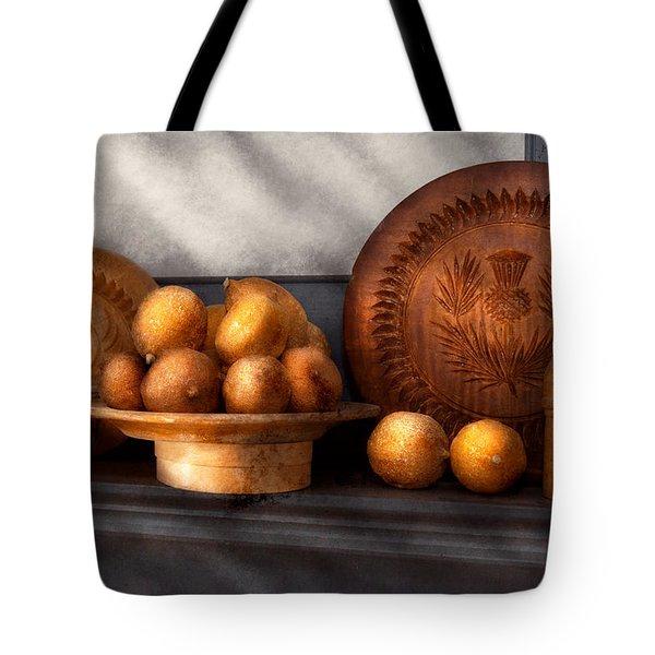 Food - Lemons - Winter Spice  Tote Bag by Mike Savad
