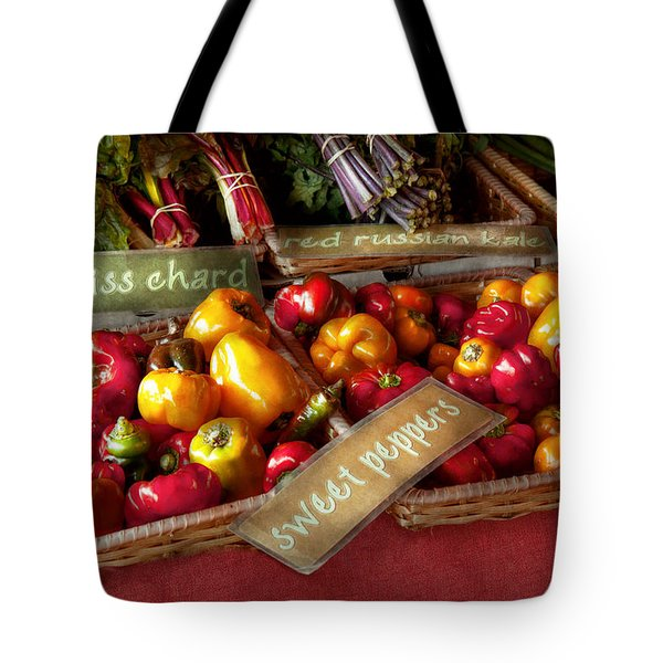 Food - Vegetables - Sweet peppers for sale Tote Bag by Mike Savad