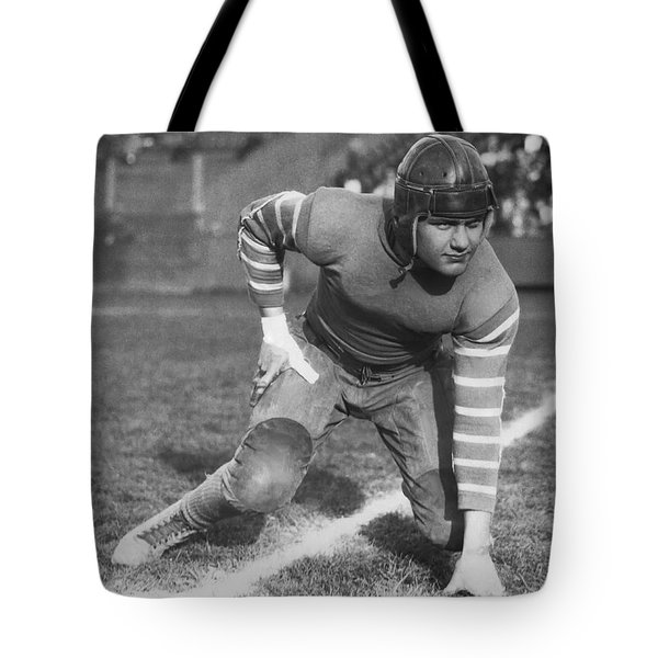 Football Fullback Player Tote Bag by Underwood Archives