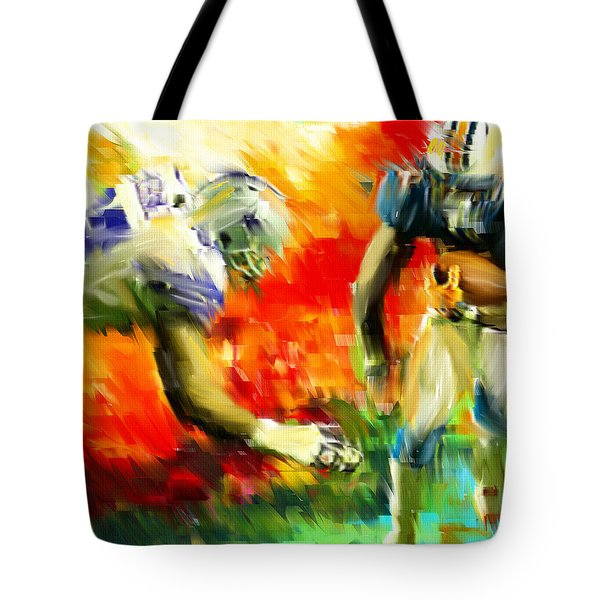 Football III Tote Bag by Lourry Legarde
