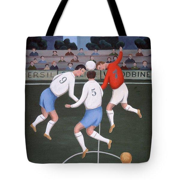 Football Tote Bag by Jerzy Marek
