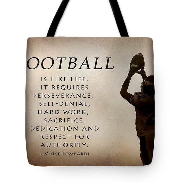 Football Tote Bag by Lori Deiter