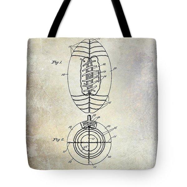 1925 Football Patent Drawing Tote Bag by Jon Neidert