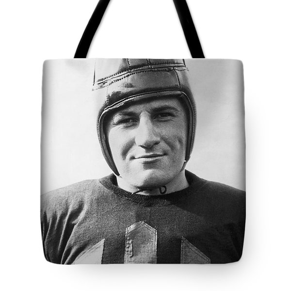 Football Player Portrait Tote Bag by Underwood Archives