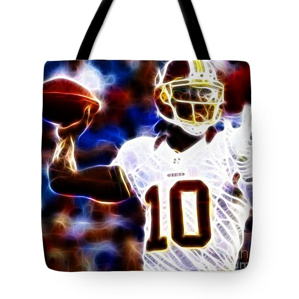 Football - RG3 - Robert Griffin III Tote Bag by Paul Ward