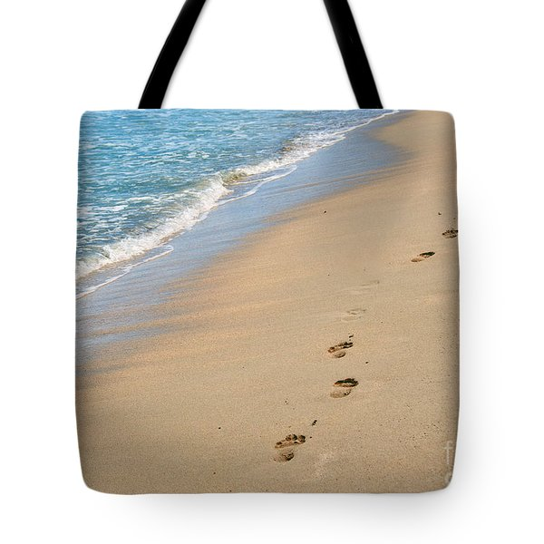 Footprints In The Sand Tote Bag by Juli Scalzi