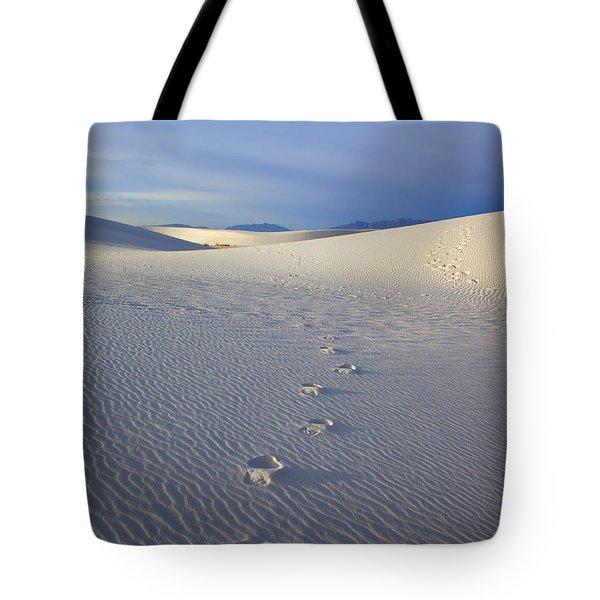 Footprints Tote Bag by Mike  Dawson