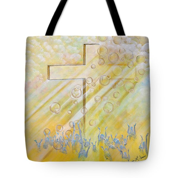 For The Cross Tote Bag by Cassie Sears
