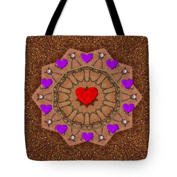 For The Love Of Hearts Tote Bag by Pepita Selles