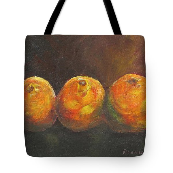 For The Love Of Three Oranges Tote Bag by Susan Richardson