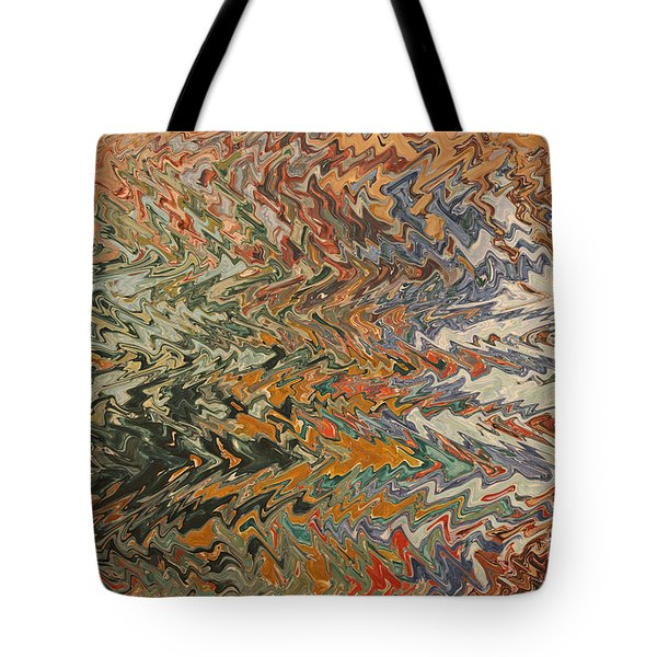 Forces Of Nature - Abstract Art Tote Bag by Carol Groenen