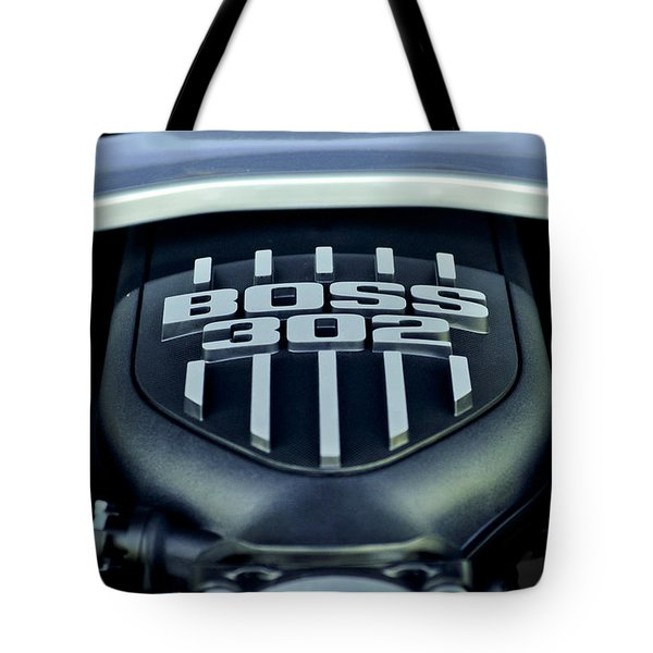 Ford Mustang Boss 302 Engine Tote Bag by Jill Reger