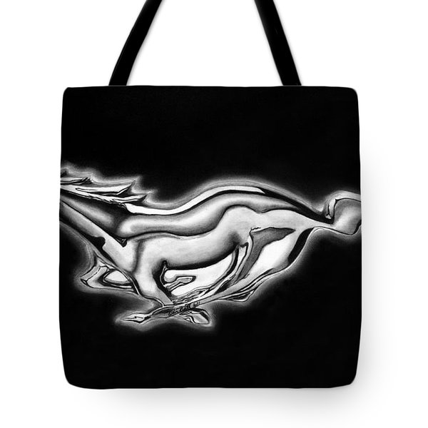 Ford Mustang Emblem Tote Bag by Peter Piatt