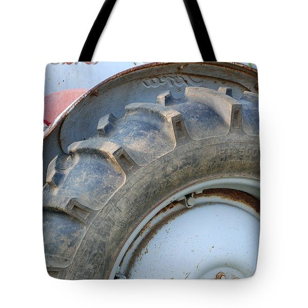 Ford Tractor Tote Bag by Jennifer Ancker