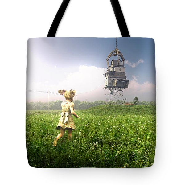 Foreclosure Tote Bag by Cynthia Decker