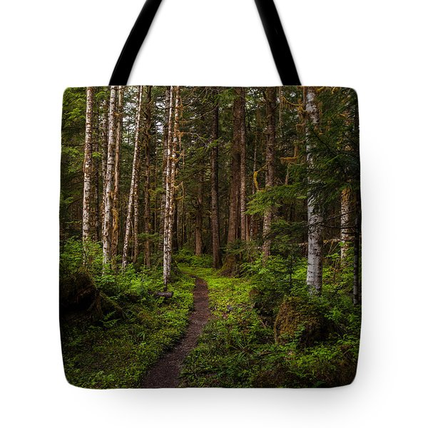 Forest Alder Path Tote Bag by Mike Reid