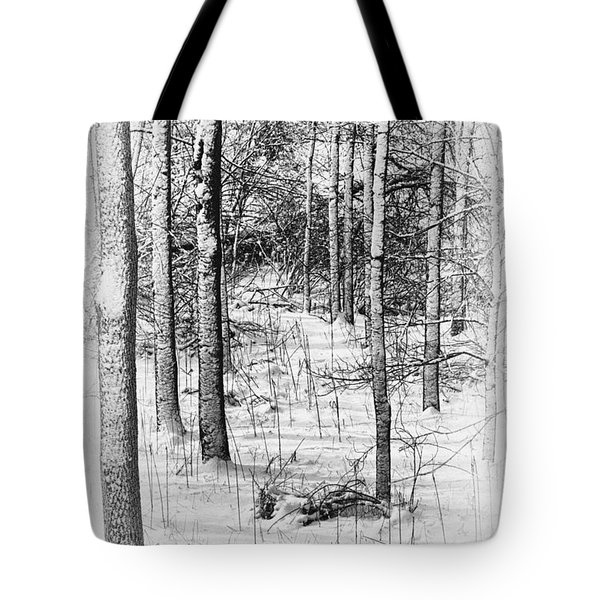 Forest In Winter Tote Bag by Tom Mc Nemar