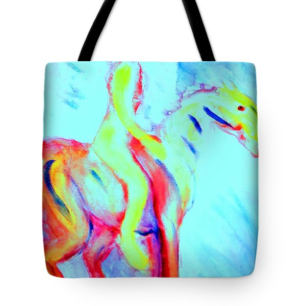 Forever riding my little pony Tote Bag by Hilde Widerberg