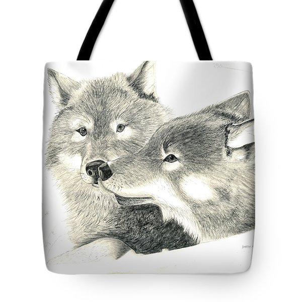 Forever Wolf Love-the Greeting Tote Bag by Joette Snyder