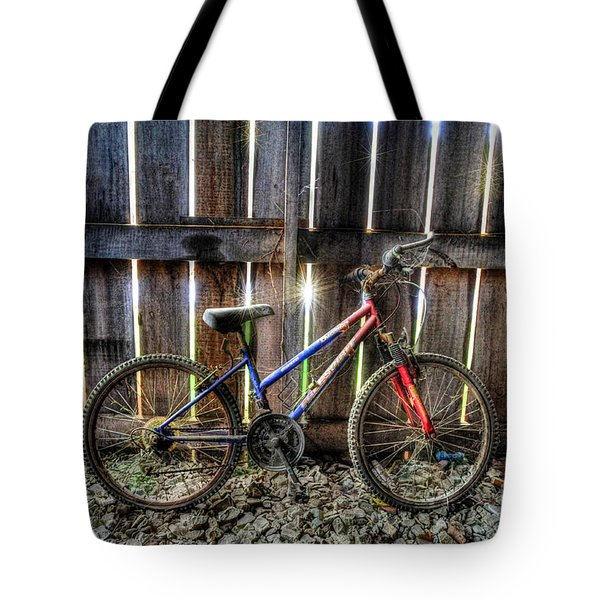 Forgotten Replaced By New Set Of Wheels Tote Bag by Dan Friend
