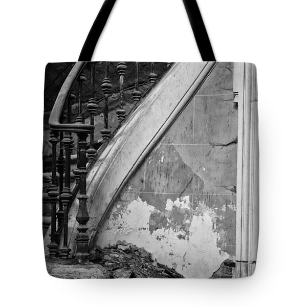 Forgotten Stairs Tote Bag by Nomad Art And  Design