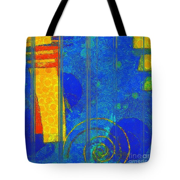 Formes - A0201blylgr Tote Bag by Variance Collections