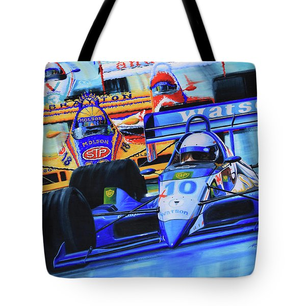 Formula 1 Race Tote Bag by Hanne Lore Koehler
