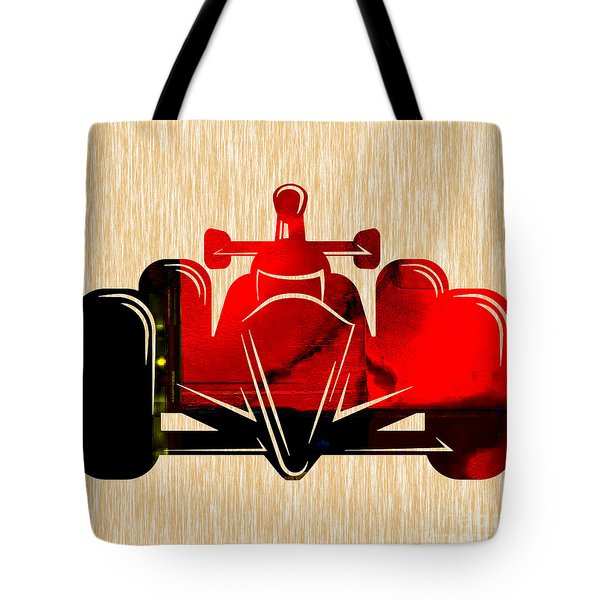 Formula One Race Car Tote Bag by Marvin Blaine