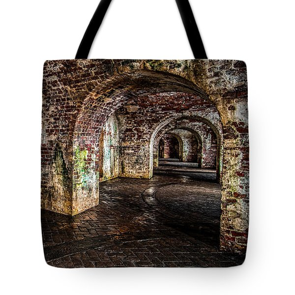 Fort Pike Tote Bag by Andy Crawford