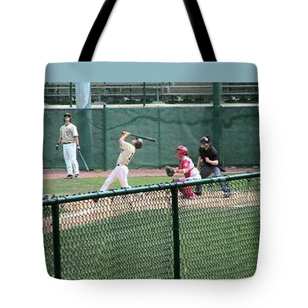 Foul Ball 3 Panel Composite Tote Bag by Thomas Woolworth