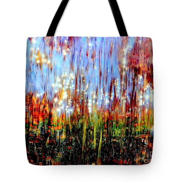 Water Fountain Abstract 3 Tote Bag by Ed Weidman