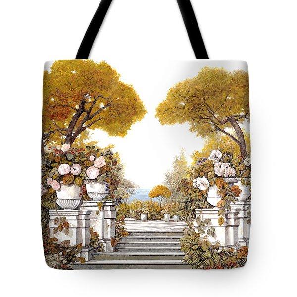 four seasons-autumn on lake Maggiore Tote Bag by Guido Borelli