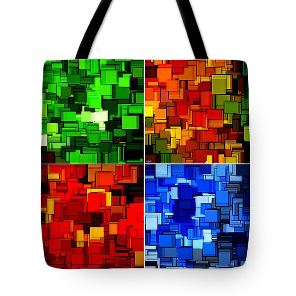 Four Seasons In Abstract II Tote Bag by Lourry Legarde