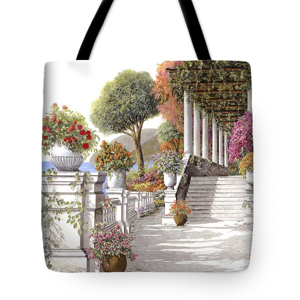 four seasons-summer on lake Como Tote Bag by Guido Borelli